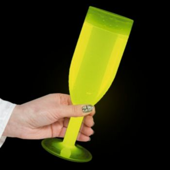 Yellow Glow Champagne Glasses