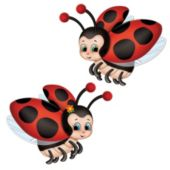 Ladybug Cutouts-2 Pack