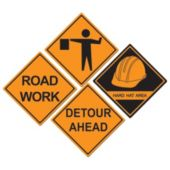 Construction Sign Cutouts-4 Per Unit
