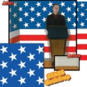 Patriotic Stars Backdrop