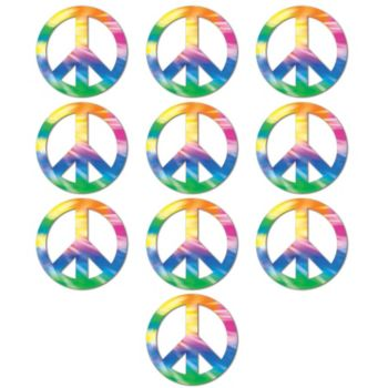 "Peace Sign 4 12"" Cutouts"