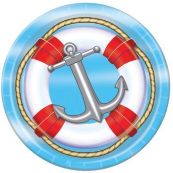 "Nautical 9"" Plates"