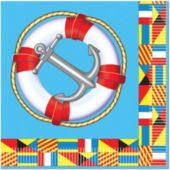 Nautical Beverage Napkins - 16 Pack