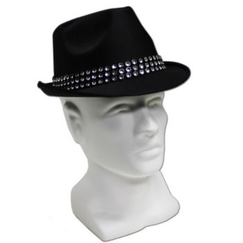 Black Studded Fedora