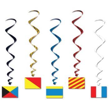 Nautical Flag Whirls