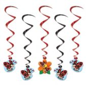 Ladybug Whirl Decorations-5 Pack