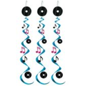 Rock & Roll Whirl Decoration-3 Pack