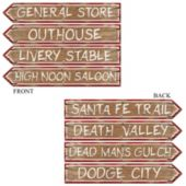 Wild West Sign Cutouts-4 Per Unit