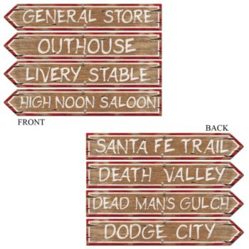 Wild West Sign Cutouts