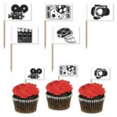 Movie Set Garnish Picks-50 Pack