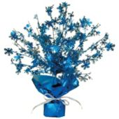 Blue Snowflake Centerpiece-15""