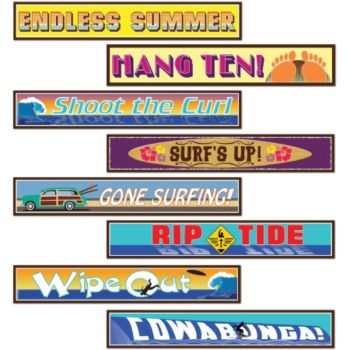 Surfer Dude Street Signs