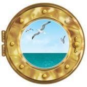 Ship Porthole Decoration Cling