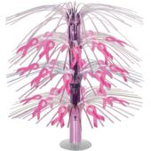 Pink Ribbon Cascade Centerpiece-18""