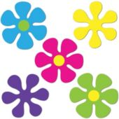 Retro Flower Mini Cutouts-10 Pack