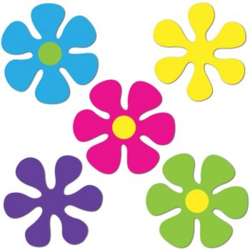 Retro Flower   Mini Cut Outs