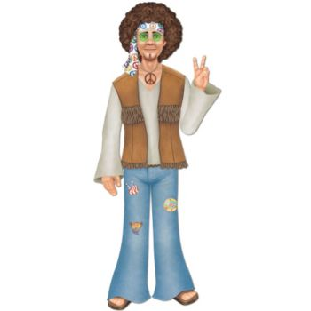 Male Hippie Cut Out