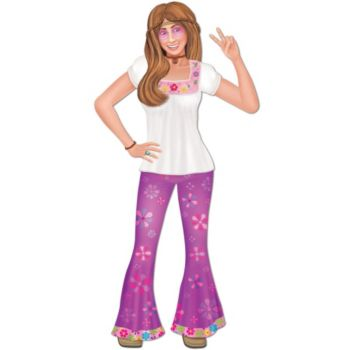 Female Hippie Cut Out