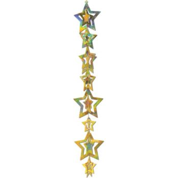 Gold Star  3-D Garland