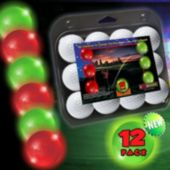 Night Golf Novelty 12 Ball Red and Green Pack