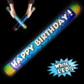 White Happy Birthday LED Lumiton - 16 Inch