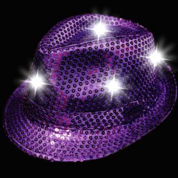 Purple LED Sequin Fedora