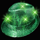 Green LED Sequin Fedora