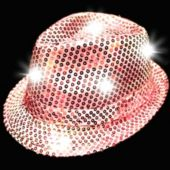 Pink LED and Light-Up Sequin Fedora