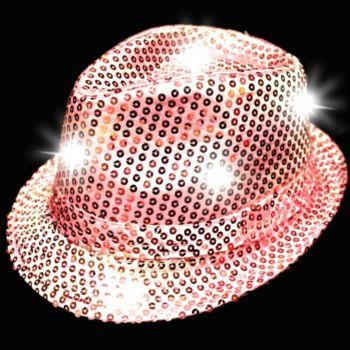 Pink LED Sequin Fedora