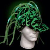 Green LED Noodle Cap