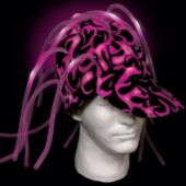 Pink Light Up Noodle Cap