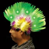 Green, White, Pink And Yellow L.E.D. Mohawk