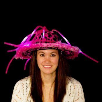 Pink L.E.D. Show Daddy Noodle Hat