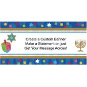 Hanukkah Celebrate Custom Banner