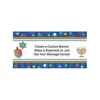 Hanukkah Celebrate Custom Banner (Variety of Sizes)
