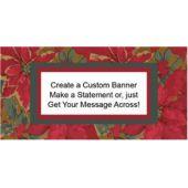 Poinsettia Elegance Custom Banner