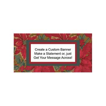 Poinsettia Elegance Custom Banner (Variety of Sizes)