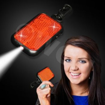 Red Reflector with Clip