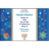 Hanukkah Celebrate Personalized Invitations