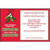 Mistletoe Secrets Personalized Invitations