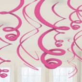 Pink Swirl Decorations-12 Pack