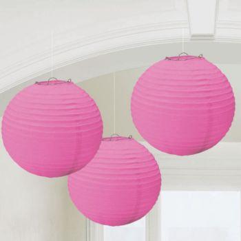 Pink Paper  Round Lanterns