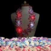 "LED Flower Leis-33""-12 Pack"