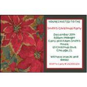 Poinsettia Elegance  Personalized Invitations