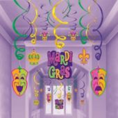 Mardi Gras Party Swirls-30 Pack
