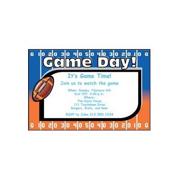 Football Orange Blue Game Day