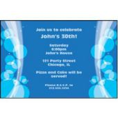 Sparkling Blue Circles Personalized Invitations