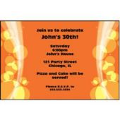 Sparkling Orange Circles Personalized Invitations