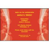 Sparkling Red Circles Custom Invitations