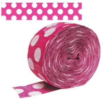 Pink & White  Crepe Paper Roll